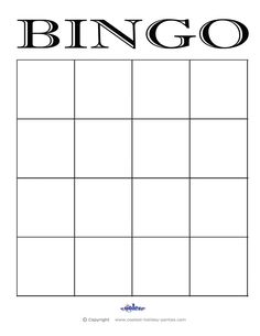 6 Best Images of Blank Bingo Cards Printable - Blank Bingo Card Template, Printable Blank Bingo Cards Template and Free Printable Blank Bingo Cards Template 4 X 4 Blank Playing Cards, Blank Bingo Cards, Task Cards, Bingo Card Template, Free Printable Card Templates, Frame Template, Math Bingo, Bingo Games, Free Games