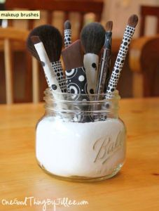 DIY: Fabric Covered Makeup Brushes
