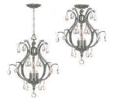 South Shore Decorating: Crystorama 5560-PW-CL Dawson Chandelier CTR-5560-PW-CL