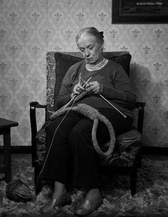 Image result for image of old woman knitting a noose
