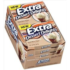 Extra Dessert Delights Sugarfree Gum Root Beer Float Flavored Gum Ten 15 Stick Packs Extra http://www.amazon.com/dp/B008GU9L2Y/ref=cm_sw_r_pi_dp_KkqRtb0PFGPKA7X5