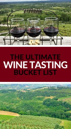 Wine Tasting Bucket List & Travel Bucket List all in one! 18 must visit wineries around the world. Read more at www.apairofpassports.com