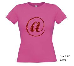 Glitter Rood Apenstaartje T-shirt Korte Mouw T Shirts, Glitter, V Neck, Sign, Women, Fashion, Tee Shirts, Moda, Fashion Styles