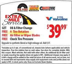 oil change coupons ventura county