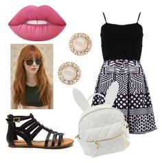 """""""Untitled #20"""" by micaelaloto on Polyvore featuring beauty, FRACOMINA, cutekawaii, Prism, Lime Crime and Kate Spade"""