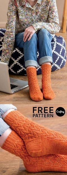 We love the beautiful yet subtle detail in the Valencia sock. Download the pattern for free and knit a pair of your own!
