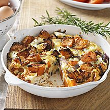 Sweet potato, red onion & feta frittata