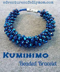 Adventures of a DIY Mom: Kumihimo Beaded Bracelets Tutorial