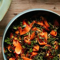 Gingered Carrot & Kale Ribbons