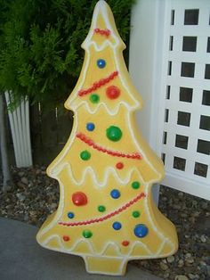 gingerbread village blow mold christmas tree union products for - Blow Mold Plastic Outdoor Christmas Decorations