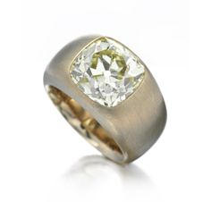 A Cushion-cut Diamond and Copper ring of 7.84 carats, by Hemmerle. Via FD Gallery, www.fd-inspired.com