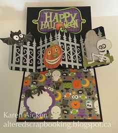Altered Scrapbooking: Halloween Twist Circle Panel Pop-Up Card