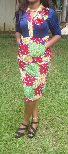 Belle robe en pagne wax africain n°5 : Robe par afro-peps African Wear, African Women, African Dress, Style Africain, Power Dressing, Africa Fashion, African Fashion Dresses, Ankara Styles, Work Attire