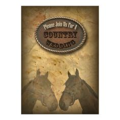 Old Western Cowboy Country Wedding InvitationOld Western Cowboy Country Wedding Invitation – Grab Yer boots! Family Values still run strong in the Country.