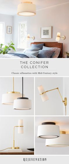 Inspired by Mid-Century design and simple silhouettes, the Conifer lighting collection imbues classic lines with unparalleled texture and shine. Shop this versatile collection of modern sconces, pendants, flush mount lights, and chandeliers to get started.