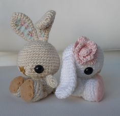 Spring Bunnies by all_about_ami, via Flickr Free Crochet Pattern
