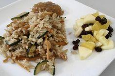 Asiatisk wok med rejer og frugtsalat  ( Fedtfattig ) 4