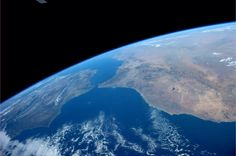 The Strait of Gibraltar: the gateway to the Mediterranean Sea on a stunningly clear day. Picture: Astronaut Reid Wiseman