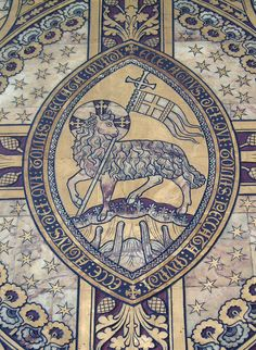 Lamb of God, Worcester Cathedral by Aidan McRae Thomson. Christian Symbols, Christian Art, Catholic Art, Religious Art, Worcester Cathedral, The Good Shepherd, Mystique, Medieval Art, Sacred Art