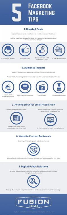 5 Facebook Marketing Tips - #infographic