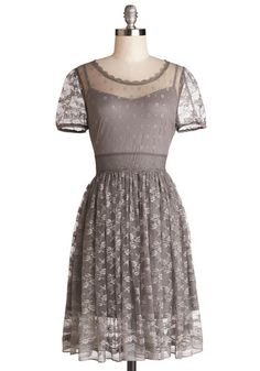 Pretty Pastries Dress. When prepping for the photographic debut of your delicate delights in the local paper, slip on this taupe lace dress! #grey #wedding #bridesmaidNaN