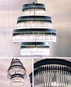 Bic pen chandelier