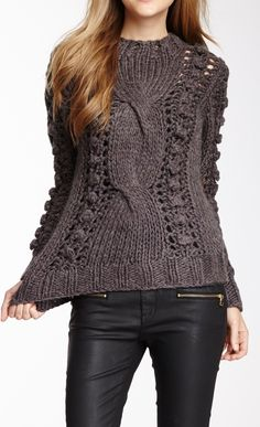 Cable knit      ♪ ♪ ... #inspiration #crochet  #knit #diy GB  http://www.pinterest.com/gigibrazil/boards/