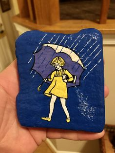 Morton Salt Girl, Outdoor Picnic Tables, Acrylic Craft Paint, New Hobbies, Sharpie, How To Take Photos, The Rock, Easter Bunny, Painted Rocks