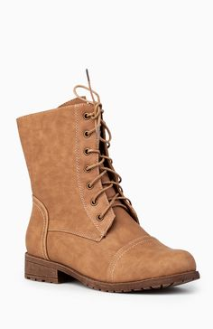 Low Rise Combat Boots from DailyLook