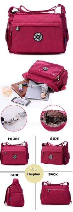 Women Nylon Light Bags Casual Waterproof Shoulder Bags Outdoor Travel Crossbody Bags Messenger Bags