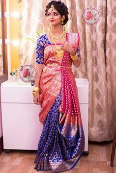 saree draping style s Half Saree Designs, Fancy Blouse Designs, Bridal Blouse Designs, Saree Wearing Styles, Saree Styles, Indian Bridal Outfits, Indian Bridal Fashion, Sari Draping Styles, Saree Designs Party Wear