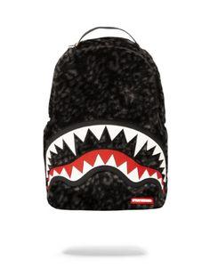 Brand New SPRAYGROUND Pink Black Scribble Shark Deluxe Bag