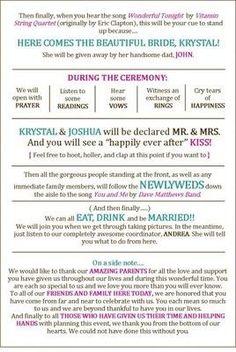 DIY Wedding Programs | Weddings, Do It Yourself | Wedding Forums | WeddingWire