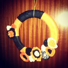 Corona de #Halloween #feltre #fieltro