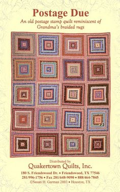 Postage Due /pattern by Sue Garman of Quakertown Quilts