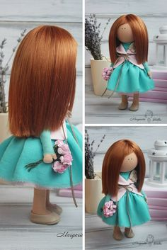 Art doll handmade, collection doll, soft doll, tilda doll, fabric doll, decor…