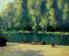Alfred Sisley. Banks of the Loing. 1891. Oil on canvas, 35.6 cm x 44.5 cm. Fine Arts Museums of San Francisco, San Francisco, California.