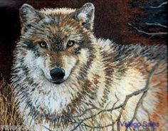 Bucilla Heirloom Counted #crossstitch  Gray Wolf #DIY #crafts #decor #needlework #crossstitching #gift