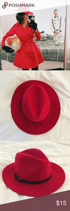 Red floppy hat  Adorable red floppy hat from Aldo. Only worn once for my Carmen San Diego costume. ALDO Accessories Hats