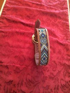 Handmade Loom Beaded Dog Collar with Custom by KrazyKBeadwork