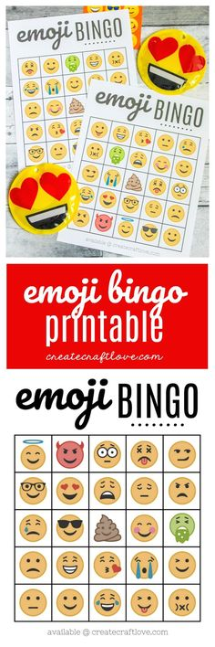 FREE Emoji Bingo Printable Who doesn't love emojis? Grab your FREE Emoji Bingo Printable HERE and let the fun begin! Games For Girls Sleepover, Birthday Party Games For Kids, 8th Birthday, Emoji Bingo, Free Emoji, Birthday Wishes For Boyfriend, Create And Craft, Just In Case, Party Emoji