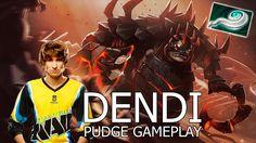 Dendi Pudge геймплей, 7000 mmr - Dota 2