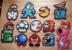 """perler (ironing bead art)."" - I have a tonne of these...wonder if a certain someone would enjoy them in their stocking?!"