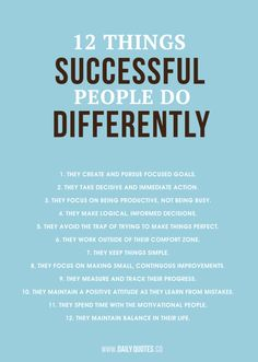 12 things successful people do differently - more success tips at edgab.com