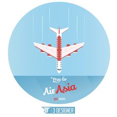 Pray For Air Asia!  ig : TF 3 DESIGNER ig  :flat.design