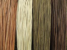 Examples of willow colour:- *  Buff (boiled and stripped) *  White (live willow stripped without boiling) *  Brown (unstripped) *  Steamed (unstripped and steamed for 2 hours)