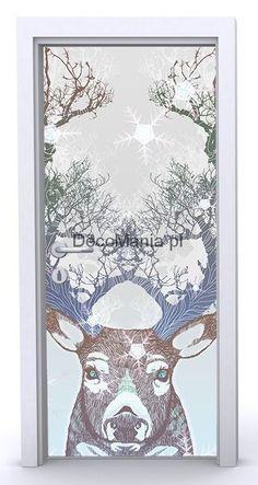 Naklejka na drzwi ND776 - Drzewa z rogów jelenia