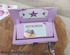 Gutschein Box mit Anleitung und Freebie. Geschenk, Verpackung, Schenken mit Liebe , Tutorial, DIY, Vorlage, Box mit Funktion