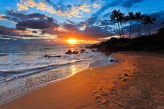 maui hawaii | ... Maui Hawaii Photograph - Sunset In Wailea Maui Hawaii Fine Art Print