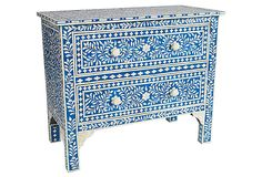 This is a bit uncharacteristic for me...maybe it's the blue!  I like this very, very much!  Jules Chest on OneKingsLane.com